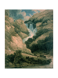 The Gorge of Watendlath with the Falls of Lodore Giclee Print by Thomas Girtin
