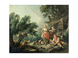 Pastoral scene. Impression giclée par Jean-Baptiste Huet