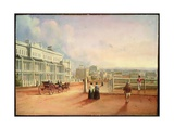 View from Lyons Terrace, Hyde Park, Sydney, 1844 Giclee Print by George Edward Peacock