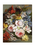 Various Flowers Giclee Print by Narcisse Virgile Diaz de la Pena