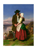 The Parting of Evangeline and Gabriel, C.1870 Giclee Print by John Faed
