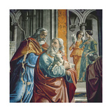 The Expulsion of Joachim from the Temple, Detail, 1485-90 Gicléedruk van Davide & Domenico Ghirlandaio