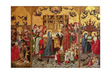The Seven Joys of the Virgin Altarpiece, C.1480 Giclee Print by  Master of the Holy Parent