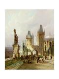 Charles Bridge, Prague Giclee Print by Pieter Cornelis Dommerson