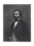 Portrait of Giuseppe Verdi (1813-1901) Giclee Print by Charles Michel Geoffroy