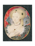 Queen Anne of Denmark, Miniature Giclee Print by Isaac Oliver