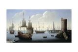 A Mediterranean Port Scene Giclee Print by Pierre Puget