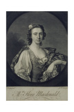 Flora Macdonald (1722-90), Engraved by James Mc Ardell Giclee Print by Allan Ramsay
