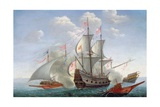 A Naval Engagement at Sea Giclee Print by Pierre Puget