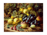 Still Life with Apples, Plums, Grapes and Raspberries Giclee Print by Oliver Clare