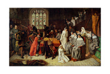 Visitation and Surrender of Syon Nunnery to the Commissioners, 1539 Giclee Print by Paul Falconer Poole