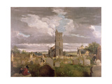 The Old Churchyard, Stirling, 1835 Giclee Print by Robert Mitchell