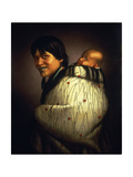 Ana Rupene and Child, C.1880 Giclee Print by Gottfried Lindauer