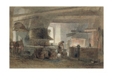 A Smithy at Seville Giclee Print by Edward Angelo Goodall