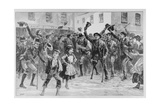 Cheering Lord Randolph Churchill's Name at Loughrea, on the Town Crier Announcing His… Giclee Print by William Heysham Overend