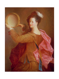 Portrait of a Woman with a Tambourine Giclee Print by Jean-alexis Grimou