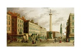 The Monument and Fish Street Hill, 1755 Giclee Print by  Canaletto