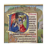 Historiated Initial 'D' Depicting the Adoration of the Kings, from a Books of Hours, Probably… Giclee Print
