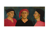The Three Gaddi, Taddeo, Zenobi and Agnolo or Angelo Giclee Print by Agnolo Gaddi