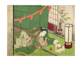 A 'Shunga', from a Series of Twenty Four Erotic Prints: Lovers, with Child Looking On, 1725-70 Giclee Print by Suzuki Harunobu