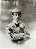 Portrait of Alberto Santos-Dumont (1873-1932) Photographic Print by Eugene Pirou