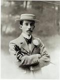 Portrait of Alberto Santos-Dumont (1873-1932) Photographic Print by Eugene Pirou