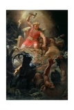Thor's Fight with the Giants, 1872 Giclee Print by Marten Eskil Winge