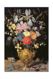 Still Life with Flowers, C.1604 Giclee Print by Georg Flegel
