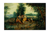 The Four Elements Giclee Print by Jan the Younger Brueghel