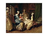 Pamela Tells a Nursery Tale, from 'Pamela: or Virtue Rewarded' by Samuel Richardson (1689-1761)… Giclee Print by Joseph Highmore