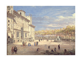 The Villa Medici, Rome, 1685 Giclee Print by Gaspar van Wittel