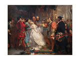 "Claudio, Deceived by Don John, Accuses Hero, from ""Much Ado About Nothing"" Giclee Print by Marcus Stone"