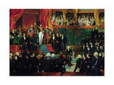 Louis-Philippe (1773-1850) Is Sworn in as King before the Chamber of Deputies, 9th August 1830 Giclee Print by Eugene Deveria