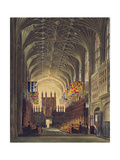 Interior of St. George's Chapel, Windsor Castle, from 'Royal Residences', Engraved by Thomas… Giclee Print by Charles Wild