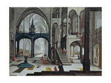 Procession in a Cathedral Giclee Print by Bartolomeus Van Bassen