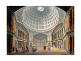 Interior of the Pantheon, Oxford Road, London Giclee Print by William Hodges