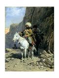 Circassians Patrol, C.1885 Giclee Print by Alfred von Wierusz-Kowalski