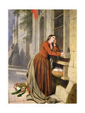 Mother Depositing Her Child in the Foundling Hospital in Paris, C.1855-60 Giclee Print by Henry Nelson O'Neil