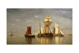 Calm on the Scheldt, 1867 Giclee Print by Paul Jean Clays