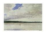 Small Sloop on Saco Bay Giclee Print by Winslow Homer