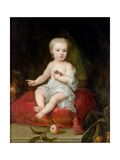 Portrait of Holles St. John (1710-38), Youngest Son of Henry, 1st Viscount St. John, as a Child,… Giclee Print by Charles Jervas