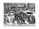 Entry of Hercule Francois of France, Duke of Alencon (1554-84) in Antwerp, 19th February 1582 Giclee Print by Franz Hogenberg
