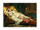 Odalisque with a Lute, 1876 Giclee Print by Hippolyte Berteaux