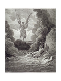 Satan and Beelzebub, from the First Book of 'Paradise Lost' by John Milton (1608-74) Engraved by… Giclee Print by Gustave Doré