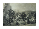 Scene on the Coast of Africa, Engraved by Wagstaff, London, 1844 Giclee Print by Francois Auguste Biard