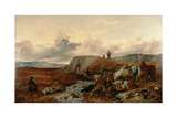 Shooting Party in the Highlands, Halting for Lunch, 1840 Giclee Print by Richard Ansdell