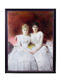 Portrait of Marthe and Terese Galoppe, 1889 Giclee Print by Leon Joseph Florentin Bonnat