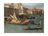 Entrance to the Grand Canal: Looking West, C.1738-42 (Detail) Giclee Print by  Canaletto