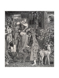 Mary Magdalene at the Door of Simon the Pharisee, 1853-9 Giclee Print by Dante Gabriel Rossetti