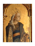 St. Catherine, Detail from the Santa Lucia Triptych Giclee Print by Carlo Crivelli